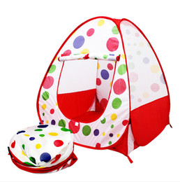 Wholesale Play Tent House - Children Kids Play Tents Outdoor Garden Folding Portable Toy Tent Indoor&Outdoor Pop Up Multicolor Independent House