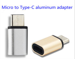 Wholesale Mini Usb Connector Types - Wholesale Free Ship multiple colour Aluminum alloy USB C 3.1 Type-C Male to Micro USB Female Mini Connector Adapter Type C Factory outlets
