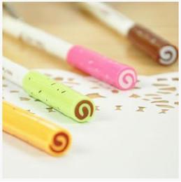 Produtos de doces on-line-Artigos de papelaria do escritório produtos doces doce cor gel caneta bonito gel caneta de tinta para os alunos escritório material escolar 6 pçs / lote ARC704