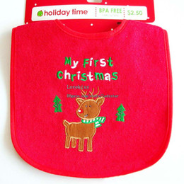 Wholesale Baby Clothing Bibs - Christmas Baby Bib Burping Cloths Baby Boys Girls Bibs Newborn Baby Clothes Baby Burp Cloths Kids Bib Baby Gifts Infant Burp Cloths L42147