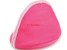 Maglia lingerie libero online-50pcs / lot Donne libere della biancheria del reggiseno delle donne del commercio all'ingrosso libero di trasporto biancheria lavante proteggono il sacchetto della maglia del sussidio
