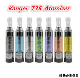 Wholesale E Cigarettes Bottom - Kangertech T3S Clearomizer Upgrade of T3S Atomizer 3.0ml Replaceable Coil T3s Bottom Coil Clearomizer E Cigarette Vaporizer for ego evod