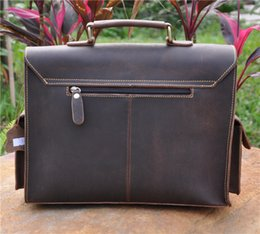 Wholesale 13 Inch Leather Messenger Bag - uggage Bags Briefcases 2058,Mens genuine leather,cowhide,13 inch briefcase bag,messenger bag,shoulder bag,tote,handbags,document case,vin...