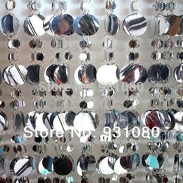2019 jingle bell ball Envío gratis / 10 M de plata y lentejuelas decoración de la cortina de lentejuelas festival fondo cortinas decoración del partido