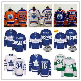 Wholesale Maple Leaf Gold - Men Toronto Maple Leafs 34 Auston Matthews 16 Mitch Marner Edmonton Oilers 97 Connor McDavid Jersey 100th 2018 Centennial Classic stitched
