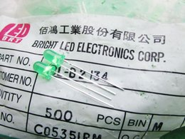 Wholesale Hair Green Highlight - Taiwan BRIGHT 5MM green led lamp beads green hair green highlight absolutely authentic