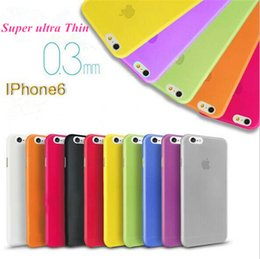 Wholesale Iphone 4s Thin - 0.3mm Ultra Thin Slim Matte Frosted Clear Soft PP Cover Case Skin for iPhone 6 6S Plus 4.7 5.5 5 5S 4 4S Galaxy S6 edge S5 Note 5 4 epacket
