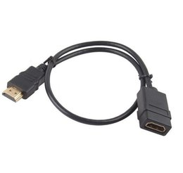 Wholesale Extension Hdmi Male Female - 1.5Ft 0.5M HDMI Male to Female Adapter Connector Extension Cable for HDTV BD