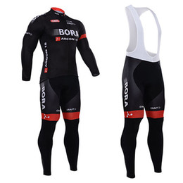 Wholesale Grey Lycra Suit - Bora Argon 2015 Winter Cycling Jersey Long Sleeve Thermal Fleece Bike Clothes and (Bib) Pants Suit for Men Outdoor Cycling Clothing