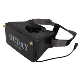 Wholesale Video Glass Viewer - 5.8G Dual Receiver FPV 3D Video Glasses Viewer Handset Video Virtual Display