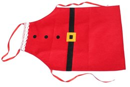 Wholesale Cooking Ornament - 2015 Fashion Chefs Christmas Kitchen Restaurant Cooking Aprons With Pocket for Women For Gift design lovers gift