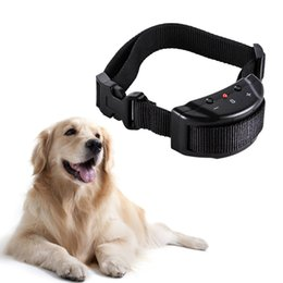 Wholesale Beeper Collars - Portable Anti Bark Dog Training Collar Stop Barking Control Collar Electric Dog Beeper and Static Shock Collar ABC758
