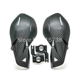 Wholesale Bike Hands - NEW BLACK CARBON Handguards Handlebar Hand Guards Fit Motorcycle Motocross Dirt Pit Bike Off Road CRF450 YZF KXF KTM EXC RMZ ATV