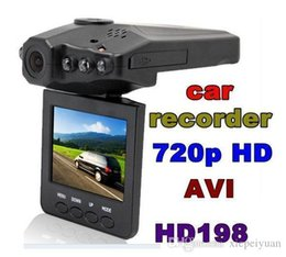 "Wholesale Vehicle Dvr Ir - DHL free H198 HD Car DVR Camera Blackbox 2.5"" Vehicle Video Voice Recorder Cam 6 IR LED Night Video"