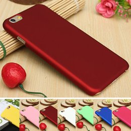 Wholesale Rubberized Hard Case - For iPhone 6 6S Plus Frosted PC Matte Ultra-Thin Rubberized Hard Shell Back Cover Case Snap on Skin for iPhone6 i6+ 6Plus