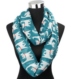 Wholesale Acrylic Circle Scarves - 2015 New Fashion Colorful Cat Infinity Scarfs Women Animal Scarfs Fashion Cut Scarves Shawls Circle scarves loop scarfs