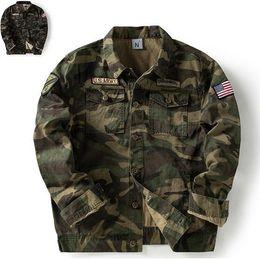 Punk hoodie männer online-Top Super US Army Green Männer Jacken Fashion Camouflage Herbst Frühling Oberbekleidung Mäntel MA Pilot Herren Male Punk Junge Hiphop Hoodies Outwear