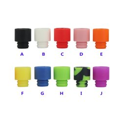 Wholesale Silica Test Tips - Colorful Disposable Silica Gel Drip Tip Silicone 510 Mouthpiece Wide Bore Drip Tip Test Drip Tips for 510 RBA RDA Atomizer