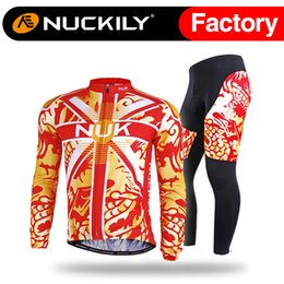 Wholesale Dragon Cycle Set - Nuckily Hot selling dragon print cycling jersey set Men's wholesale with best quality biking shirt and tight suit CJ126&CK126