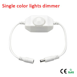 Wholesale dimmer switches for led - DC12V-24V led touch switch dimmer controller 12v with male and female connector for single color strip light