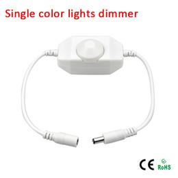 Wholesale led strip light 24v - DC12V-24V led touch switch dimmer controller 12v with male and female connector for single color strip light