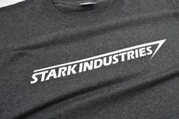 Wholesale Industry Shorts - Men T shirt Stark Industries 3D Printed Cotton Pattern Casaul Style Black Tee Shirt Homme O-neck Short Sleeve 2017 Camiseta Hombre Drop Ship