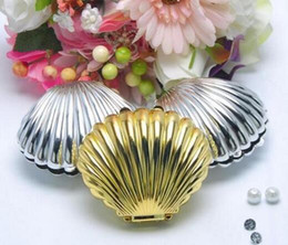Wholesale Baby Shells - 30pcs Gold Silver Shell For Wedding Party Baby Shower Favor Candy Chocolate Box