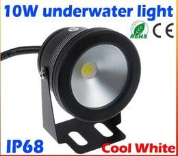 Wholesale Pool Led Light Underwater - 2015 high quality 10W 12v underwater Led Light Cool White Waterproof IP68 fountain pool Lamp Black Cover Body