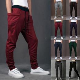 Wholesale Taper Pants Man - Wholesale-Sarouel Baggy Tapered Bandana Pants hiphop Dance Harem Sweatpants Drop Crotch Pant Men Parkour Sport Track Tapered Trousers