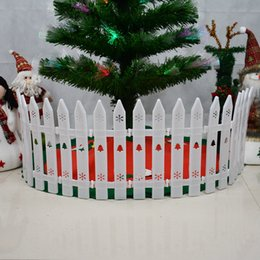 Wholesale White Plastic Fencing - Christmas tree plastic fence white Flower bar fence Christmas decoration fence(Monolithic high 27cm wide 11cm) Scene layout props
