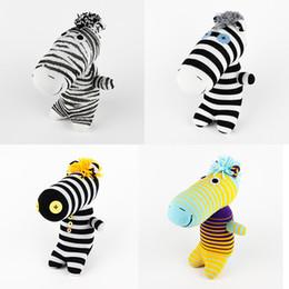 Wholesale Baby Zebra Stuff - Handmade sock monkey zebra 005 stuffed animal doll baby toys party birthday favor