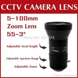Wholesale Iris Mm - CCTV Lens   Manual Vari-Focal 5-100 mm   Camera Lens   Lenses  board mount manual Iris lens AN05100V Free Shipping A5