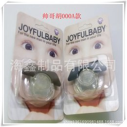 Wholesale New Beard Styles - Hot sale Novelty Infant silicone Beard New Pacifier Funny Orthodontic Nipples Dummy Mustache Lips Style baby pacifiers free shipping