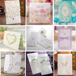 Wholesale Multi Samples - Sample - Wedding Invitations Cards Personalized Invitation Cards Many Styles for Choose Free Shipping 1 lot = 3pcs
