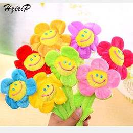 Wholesale Toy Flower Bouquet - Wholesale- Retail Stuffed Plush Plants Toys Curtain Clip Creative Sunflower Plush Toys For Children Birthday Bouquet Wedding Gifts 8 Colors
