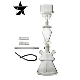 Wholesale Heat Filter Glass - high quality NEW HOOKAH The filter is double Transparent heat-resistant glass Can two people use mini hookah-01