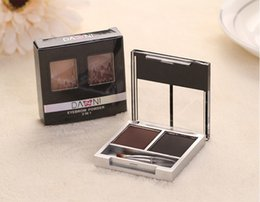 Wholesale Danni Eyebrow Powder - Wholesale-Professional 2 Color Makeup Brand DANNI Eyeshadow Eyebrow Cake Eye Brow Powder Palette with Brow Brush Waterproof