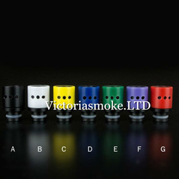 Wholesale Gift Box Ce4 - Three Hole 510 Adjustable air flow Wide Bore Drip Tips Plastic Drip Tip with Gift box packing for CE4 RDA RBA E Cig mechanical mod Atomizer