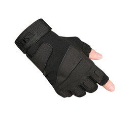 Wholesale Tactical Military Fingerless Gloves - High quality Men Outdoor Sports Camping Military Tactical Gloves Motorcycle Cycling Racing Half-finger Gloves Hot Sale