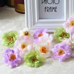 Wholesale Corsage Photos - Simulation plum flowers diy silk flower corsage brooch head factory direct wholesale photo props wedding car decoration