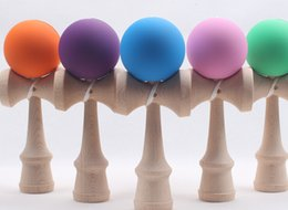 Wholesale Education Toys Wood - Big size 19*6cm Kendama Ball Japanese Traditional Wood Game Toy Education Gift Amusement Toys 15 colors DHL Free