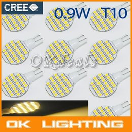 Wholesale Light 921 - 10PCS DC12V T10 194 921 W5W 1210 24 SMD Warm White RV Landscaping LED Light Lamp Bulb parking car styling order<$15 no tracking