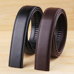 Wholesale Men S Body Belt - Wholesale-Fashion Men's Leather Belt 2015 New Mens Brand No Buckle Belt Smooth Body Men Strap Cintos Without Headband