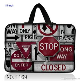 """Wholesale Traffic Sign Printing - Stylish Traffic sign 15"""" 15.5"""" 15.6"""" Notebook Laptop Neoprene Carry Sleeve Bag Case Cover Hide Handle"""