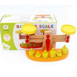 Wholesale Wooden Balance - Montessori Wooden Balance Scale - Montessori Teaching Aids Toys, Educational Toys for 2-Year-Old and Above free shipping
