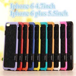"""Wholesale Wholesale 3d Cell Phone Cases - New 10pcs Styles For Iphone 6 4.7"""" iphone 6plus 5.5"""" 3D Colorful Hybrid Hard TPU +PC Shockproof Function Hard Back Cover Cell Phone Case"""