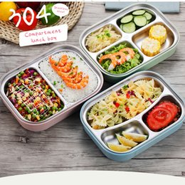 Wholesale Lunch Compartment - 304 Stainless Steel Japanese Lunch Boxs With Compartments Microwave Bento Box For Kids School Picnic Food Container