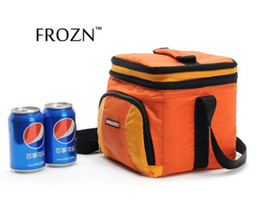 Wholesale Insulated Picnic - Wholesale-FROZN 2 Layers Lunch Box Picnic Cooler Bag Insulated Travel Built-in plastic box