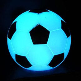 Wholesale Football Holidays - LED Soccer Light Night Lights Color Changing Football Lamp Kids Room LED Party Holiday Decoration Gift Factory Price