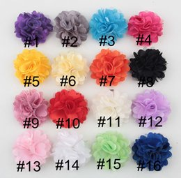 Wholesale Handmade Cloth Hair Clip - 16 colors hot sale Color butyl cloth flowers with hair clip for girls handmade flower princess BB clip for children hair accessories